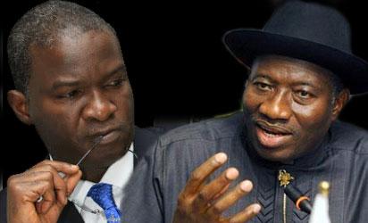 President Jonathan and Gov Babatubde Fashola of Lagos